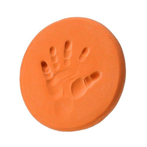 Fulltime®Bébé Air séchage doux argile Handprint empreinte empreinte, moulage d'empreintes digitales (Orange)