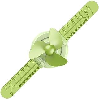 Creacom Ventilador de Reloj de Mini Regla, Ventilador de Reloj de Mini Regla Ventilador de Aire Acondicionado Creativo Ventilador de Verano Estudiantes Leer Viajes Camping Verde