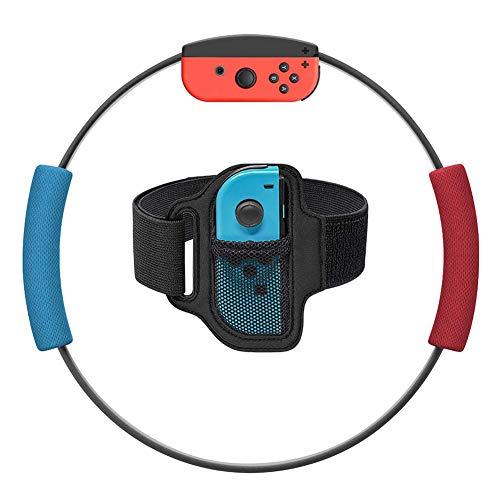 Brazalete de Control Elástica Ajustable de Reemplazo para Juego de Ring Fit Adventure de Nintendo Switch Juego de Ejercicios de Fitness Joycon Adapter 1 pcs (Sin Anillo)