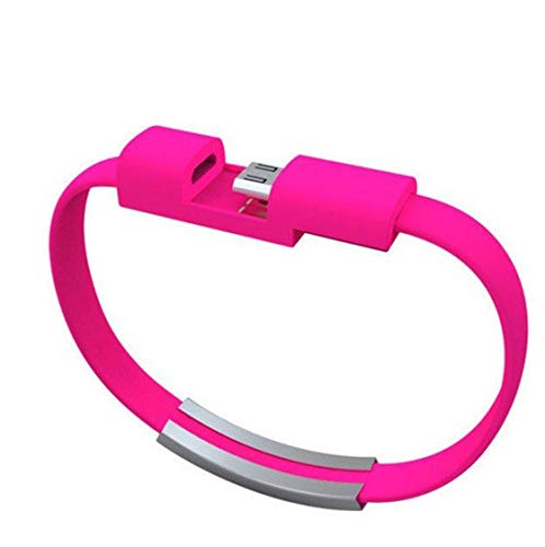 Shot Case Cable de Pulsera Lightning para iPhone 11 Pro Chrome, Cargador de Apple USB de 25 cm, Conector de Color Rosa