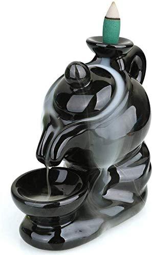 HJXSXHZ366 El reflujo Tetera de Porcelana Recipiente de Incienso Humo de Incienso Falls Tradicional Creativa decoración del hogar Quemador de aromaterapia Incienso Chino