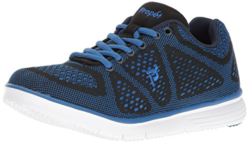 Propét Men's TravelFit Walking Shoe Black Size: 7 UK