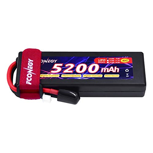 FCONEGY 2S Lipo Battery 7.4V 40C 5200mAh RC Rechargeable Lithium Polymer...