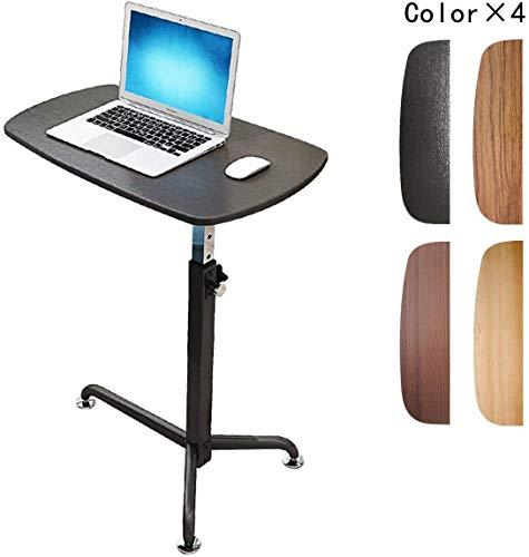 LY88 Over Bed Voedsellade Kleine Rolling Computer Tafel met Wielen Verstelbare Tafel Nachtkastje Ziekenhuis Voedsellade Rolling Laptop Desk,Zwart
