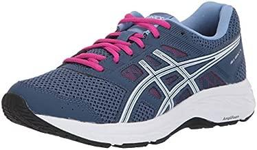 ASICS Women's Gel-Contend 5 Running Shoes, 9, Grand Shark/White