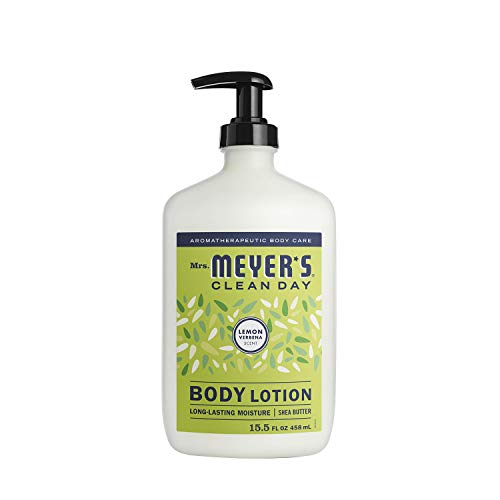 Mrs. Meyer's Clean Day Body Lotion, Long-Lasting, Non-Greasy Moisturizer, Cruelty Free Formula, Lemon Verbena, 15.5 oz