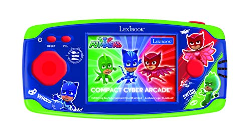 Lexibook JL2365PJM-4 PJ Masks Catboy Compact Cyber Arcade Tragbare Spielkonsole, 150 Gaming, LCD, Batteriebetrieben, grün/rot