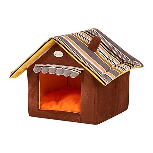 N/A/A Casa de gato para invierno, cálida, caseta para gatos, para invierno, casa cerrada, casa de dormir desmontable (M)