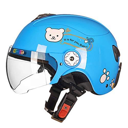 ETXYTQ Leichte Kinderfahrradhelm, Kind Motorradhelm, Schutzhelm für BMX Scooter Skateboard Radfahren Roller Skating Alter 3-8 Jahre alt Jungen Mädchen,Blau,S