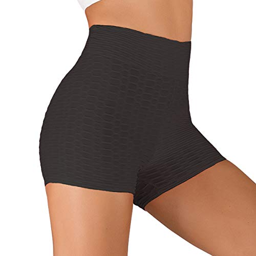 Iuulfex Workout Shorts Women Booty Yoga Shorts Butt Lifting High Waist for Exercise Gym