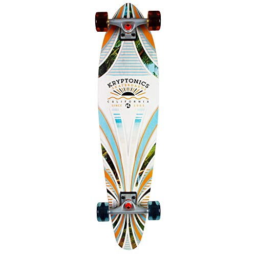 "Kryptonics 36"" Longboard Rad Rays, Tan/Blue/Green"