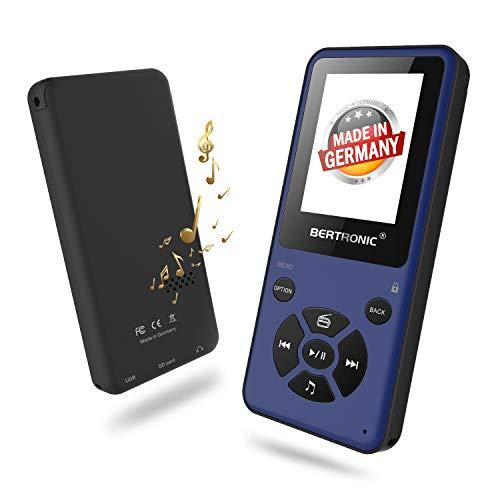BERTRONIC Made in Germany Thor BC910-B MP3 Player, 16 GB Bis 80 Stunden Wiedergabe Radio | Portabler Player mit Lautsprecher & wechselbarem Akku | Audio-Player mit Micro SD-Karte & Gürtelclip
