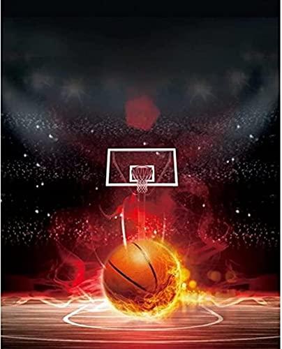 YRICHPG DIY 5D Baloncesto Deportes de Fuego Completo Diamante Pintura Kits de Punto de Cruz Arte Pintura escénica por Diamantes decoración de Pared Artesanal