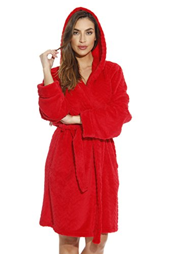 Just Love 6341-Red-XL Kimono Robe/Hooded Bath Robes for Women