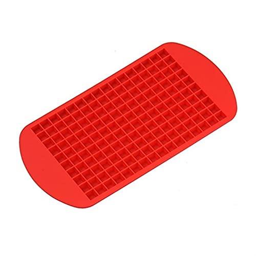 Bandeja de hielo 160 Grid 1x1cm Fruta de silicona Fabricación de hielo Molde de calidad de alimento Frigorífico de silicona (Color : R)