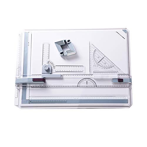 A3 - Tableros de dibujo herramienta de dibujo multifuncional portátil con patas de soporte antideslizantes abrazaderas de ángulo ajustable sistema de medición arquitectónica de bricolaje