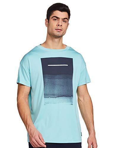 adidas Parley GRAP tee Camiseta de Tenis, Hombre, espazu, L