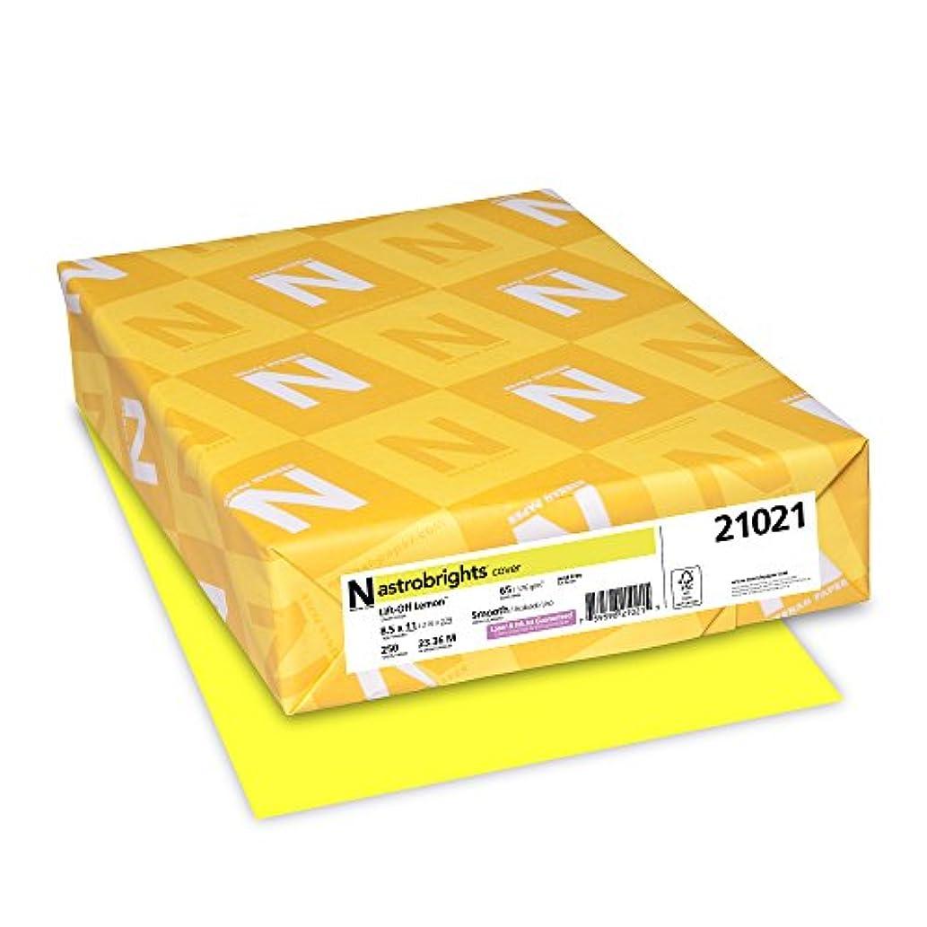 "Astrobrights Colored Cardstock, 8.5"" x 11"", 65 lb/176 GSM, Lift-Off Lemon, 250 Sheets (21021)"
