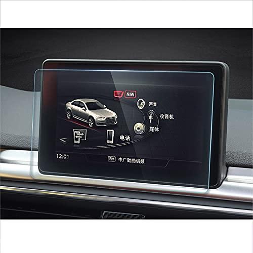 para Audi A4 B9 A5 S4 S5 Q5 2017 2018 2019, Protector de Pantalla de navegación GPS para Coche de Vidrio Templado, película Compatible con Pantalla táctil LCD, Pegatina