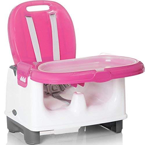 Mitwachsender Tischsitz/Sitzerhöhung/Hochstuhl mit TABLETT (PINK)