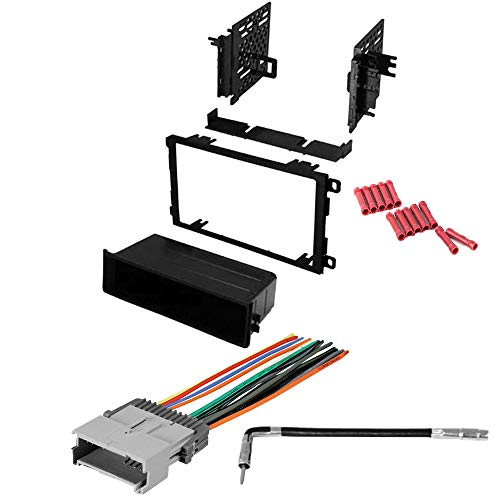 CACHÉ KIT913 Bundle with Car Stereo Installation Kit for 2003 – 2006 Chevrolet Tahoe – in Dash Mounting Kit, Harness, Antenna for Single or Double Din Radio Receivers (4 Item)