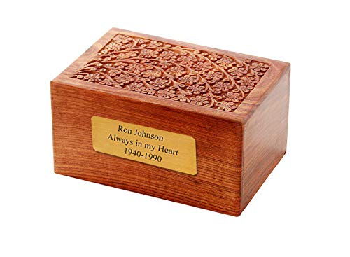 Memorials4u Solid Wooden Box (With Engraving)