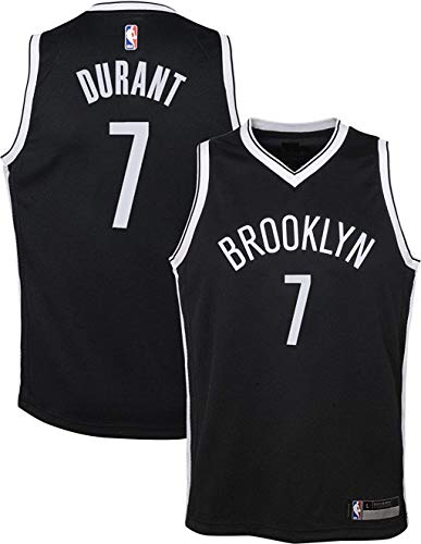 Outerstuff Kevin Durant Brooklyn Nets NBA Boys Kids 4-7 Black Road Replica Jersey (Kids 4)