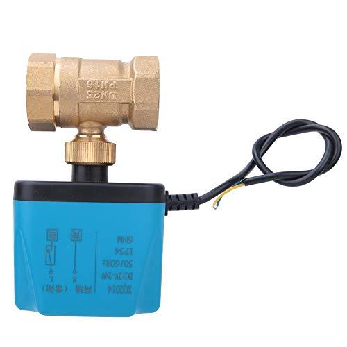 Válvula de bola eléctrica Válvula motorizada DC12~24V G1in Válvula de motor síncrono...