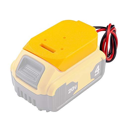 Battery Adapter for Dewalt 20V Battery 18V Dock Power Connector 14 Gauge Robotics