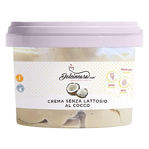 Crema Spalmabile Senza Lattosio Cocco Crema pronta per l'utilizzo al gusto di Cocco - Confezione da 500 Gr - Senza Glutine