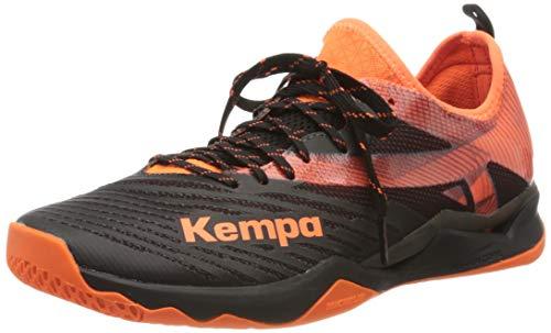Kempa WING LITE 2.0, Herren Handballschuhe, Mehrfarbig (Schwarz/Fluo Orange 02), 43 EU (9 UK)