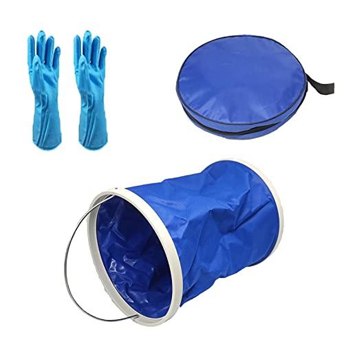 mooderf Kit de limpieza de piscina Durable Kit de limpieza de piscina PVC Cubo a prueba de fugas Accesorios de mantenimiento de bañera portátil