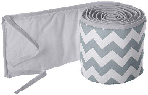 Find Bargain Babykidsbargains Chevron Cradle Bumper, Grey, 15 x 33