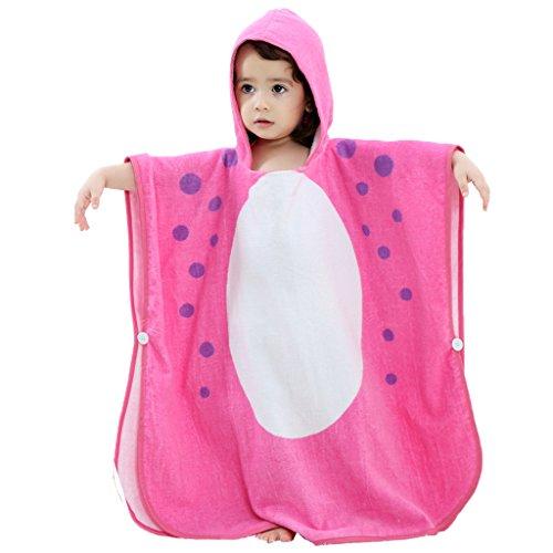 Baby jongens meisjes capuchon badjas - kinderen badhanddoek kleine kinderen 100% katoen deken absorberende handdoeken cartoon dier nachtkleding
