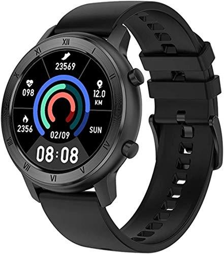 Reloj inteligente para mujer IP68 impermeable pulsera sueño monitoreo deportivo smartwatch para señoras-silicio negro