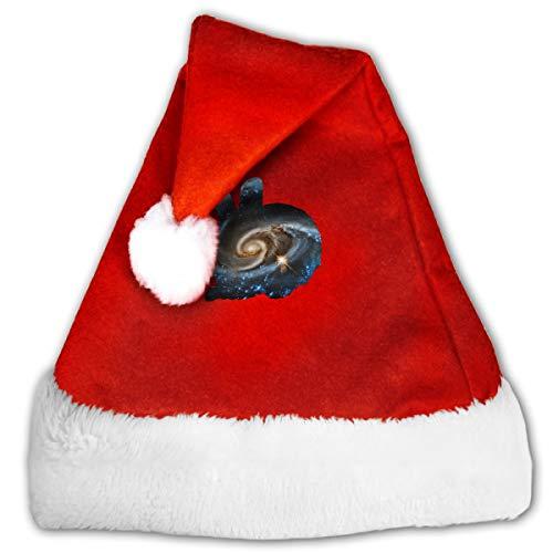 CZLXD Weihnachtsmütze mit Hasen-Motiv, Polyester, rot, M