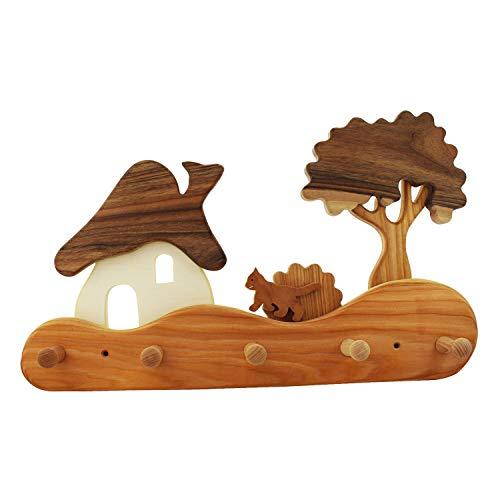 mitienda mit Liebe gemacht Kindergarderobe aus Holz, Haus am Wald,Kindergarderobe, Kinderwelt
