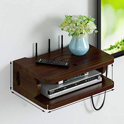 Estante del enrutador Wifi Almacenamiento de montaje en la pared del rectángulo del estante router WiFi Router de almacenamiento, cajas de DVD de almacenamiento en rack Organizador caja de DVD, caja d