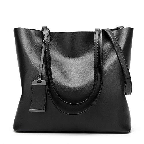 Womens Soft pelle borse grandi capacità retrò Vintage Top-manico casuale Tote borse a spalla