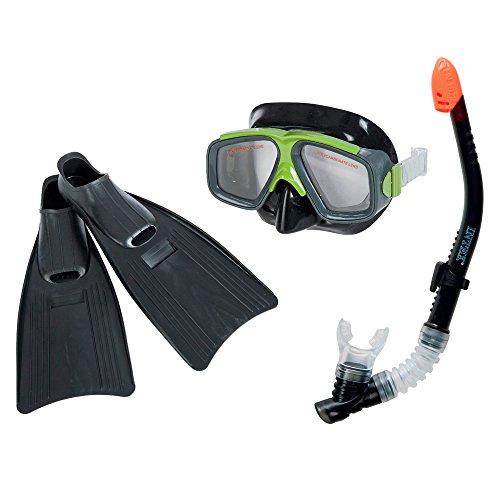 Intex - Tubo, aletas, máscara buceo surf rider talla 41-45 (55959)
