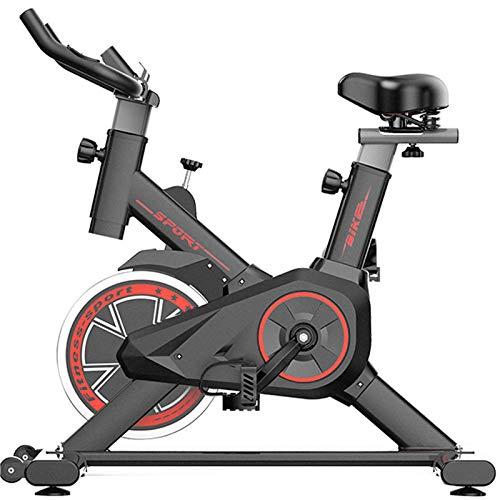 XRTJ Bicicleta de Spinning,Bicicleta estática Vertical con Pantallas LCD súper silenciosas,Spinning Bike con Asiento Ajustable,Carga 150kg