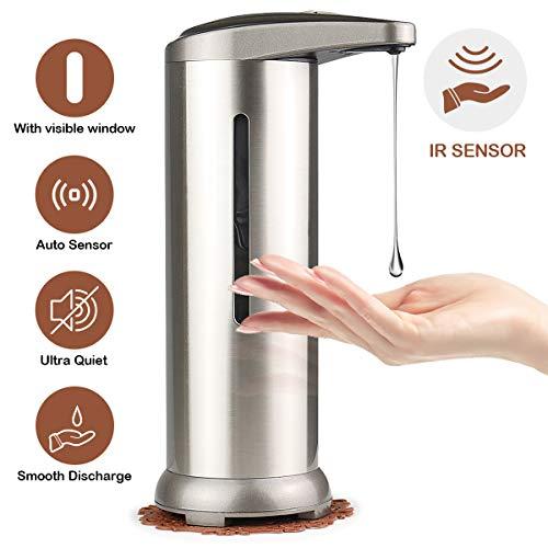 Pompa per Lozione del Sapone da Cucina Senza Contatto per Il Bagno della Cucina 1 Ml di Dosaggio Blingbin Dispenser di Sapone Automatico con Sensore a Parete da 700 Ml Alimentato a Batteria