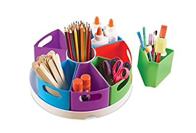 Learning Resources Create-a-Space Storage Center, Homeschool AccessoriesBright Colors, Classroom Craft Keeper, 10 Piece set