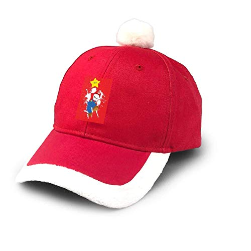 GGdjst Gorro navideño, Super Ma-Rio Sombrero de Santa Sombrero de Navidad for Kids Adult Families Celebrate New Year Party