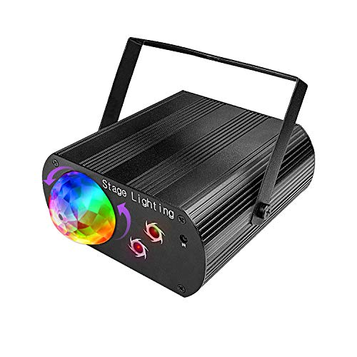 Discokugel,Gvoo Sound Aktivierte Party Light LED Bühnenprojektor für Urlaub Party Kinder Geburtstag Karaoke Club Lichteffekte Weihnach