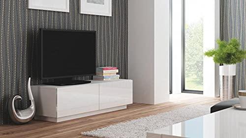 SomProduct Livo RTV-160S - Cómoda para TV (tablero DM, 160 x 40 x 38 cm), color blanco