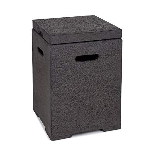 blumfeldt Gas Garage - Aufbewahrungs-Box für Gasbehälter, Material: Magnesia/MGO, Frostschutz, für Gasflaschen bis 8 kg, Maße: 41 x 56,5 x 41 cm (BxHxT), 12 kg, inkl. Regenschutz, dunkelgrau