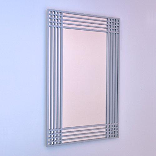 DECOHOGAR.SHOP Miroir Mural rectangulaire - Coins Cell Grand - 60 x 90 cm - Laqué Noir