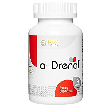 RLC a-Drenal Adrenal Support for Stress Relief and Energy 120 Capsules