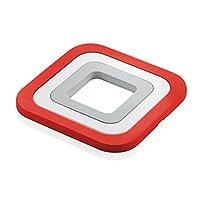 fratelli guzzini kitchen active design set sottopentole, fundición de aluminio, rosso